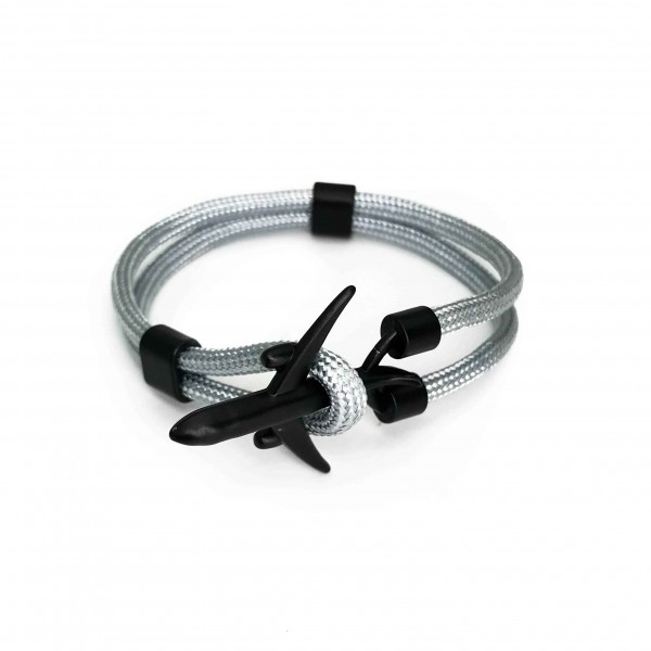 Bracelet Big Black Plane Gray