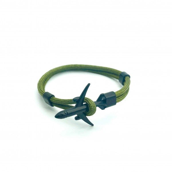 Bracelet Plane Black&Green