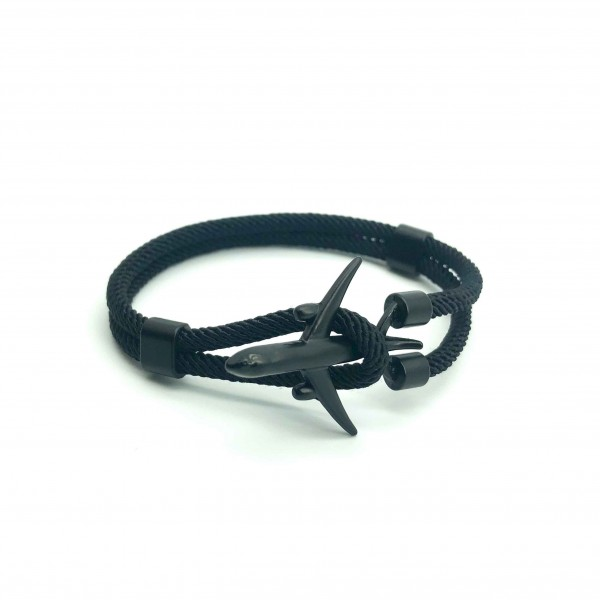 Bracelet Big Plane Total Black