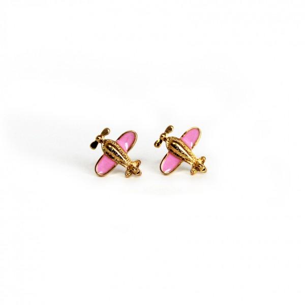 Earrings Pink Bee