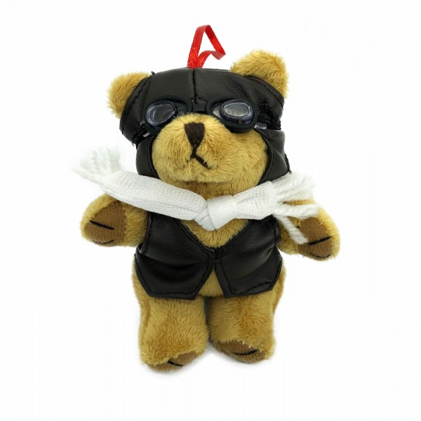 Keychain Bear Pilot With Scarf