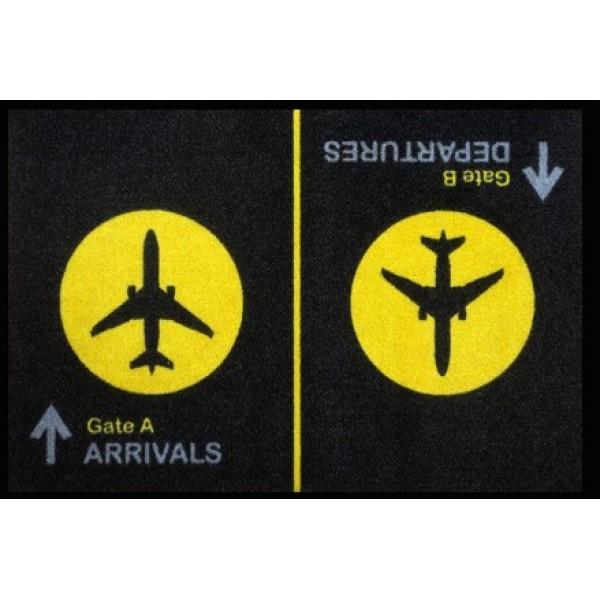 Doormat Black Arrival Departure