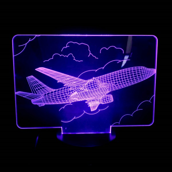 3D Nightlight Aircraft in the Clouds