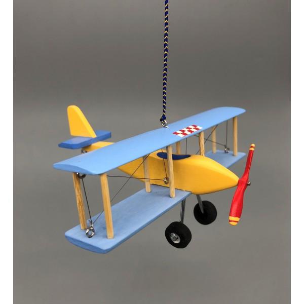Biplane Basic Blue&Yellow