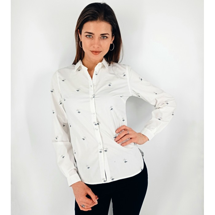 Aviation Shirt Female Milky