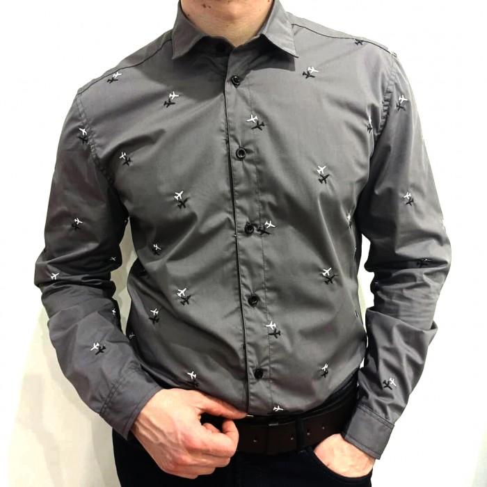 Aviation Shirt Male Gray