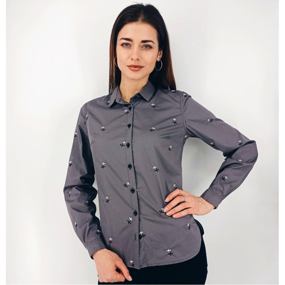 Aviation Shirt Female Gray