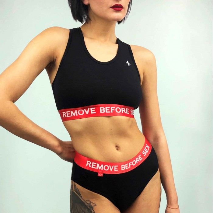 "Lingerie ""Remove Before Sex"" Black"