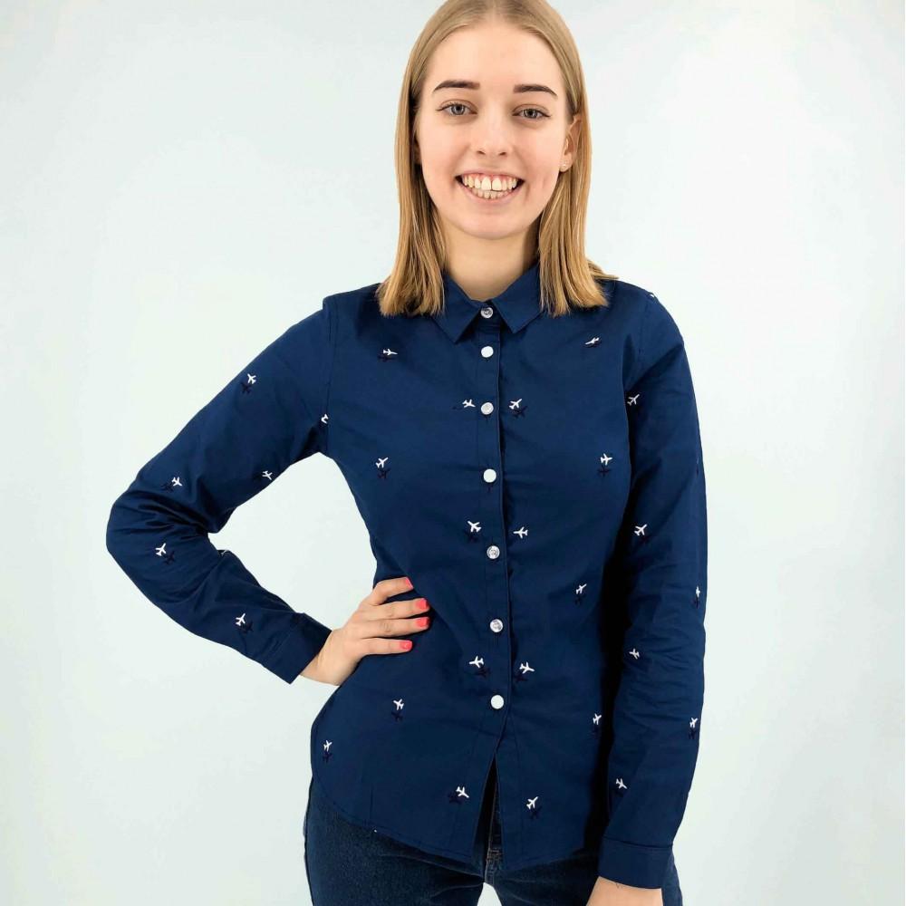 Aviation Shirt Female Blue