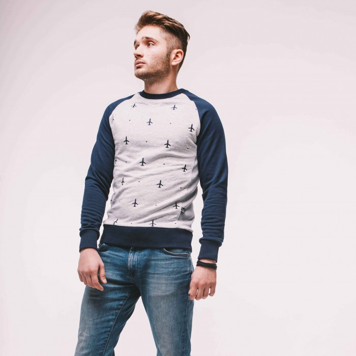 Sweatshirt Gray Male