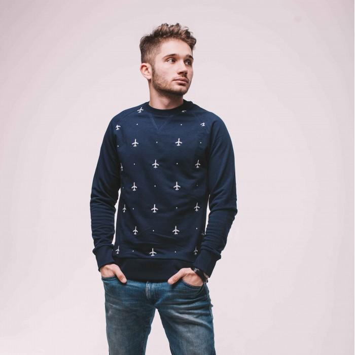 Sweatshirt Blue Male