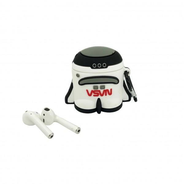NASA Headphone Case Shuttle Classic Black And White