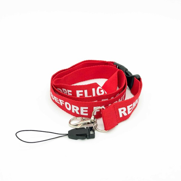 Lanyard Remove Before Flight Red