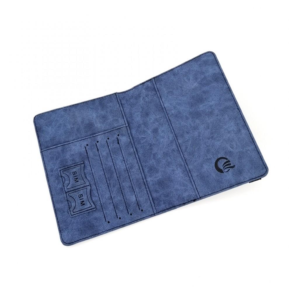 Passport Cover Travel Wallet Blue