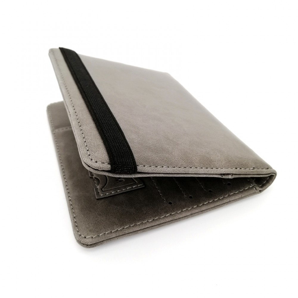 Passport Cover Travel Wallet Gray