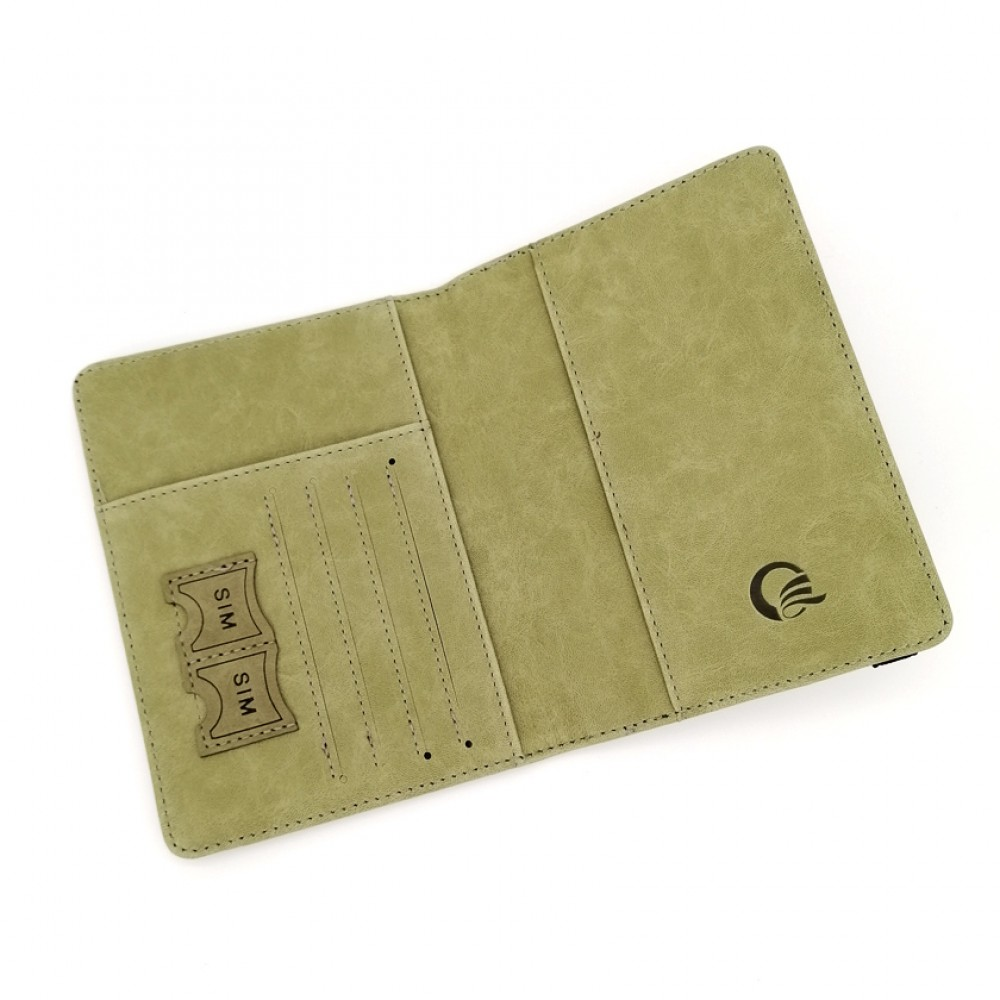 Passport Cover Travel Wallet Olive