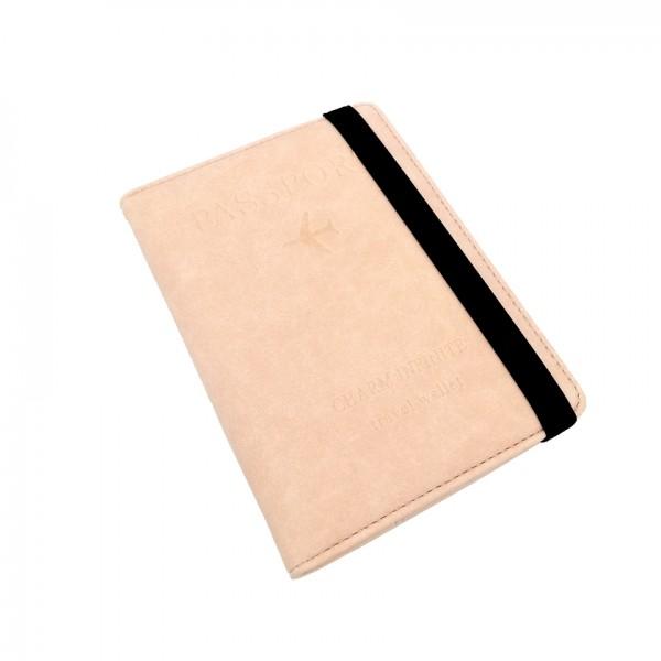 Passport Cover Travel Wallet Pink