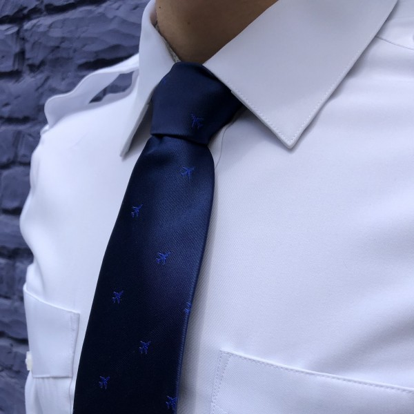Tie With Dark Blue Airplanes