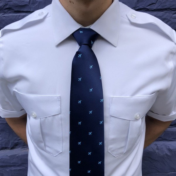 Tie With Light Blue Airplanes