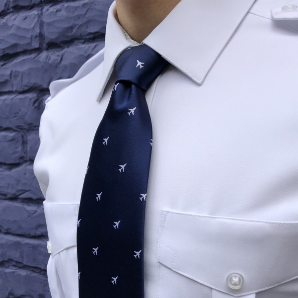 Tie With White Airplanes