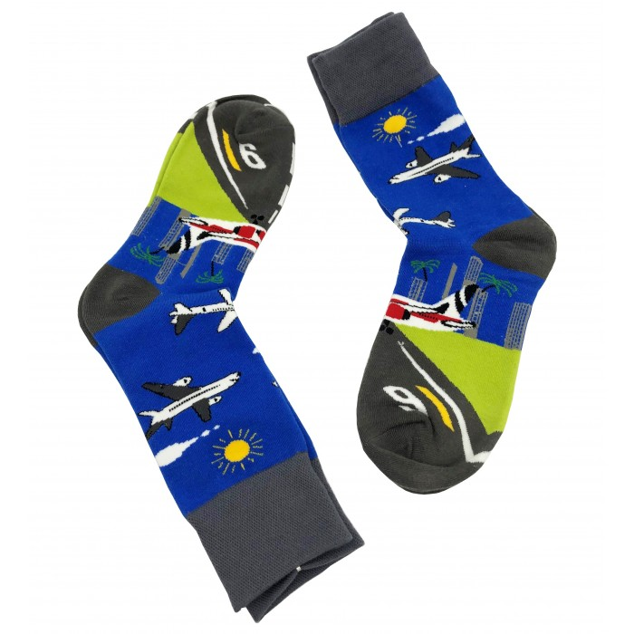 Aviation Socks airplane with landing strip
