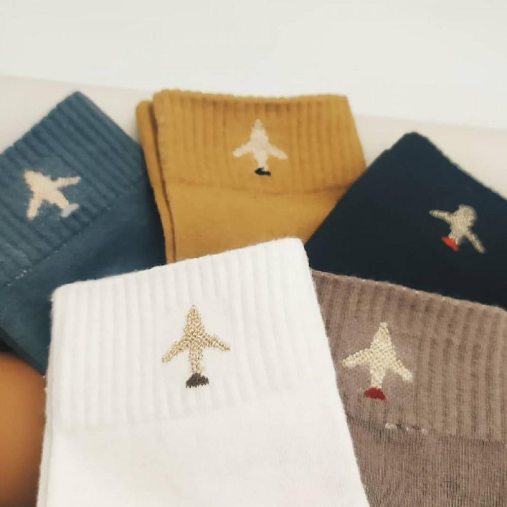Socks With Golden Plane