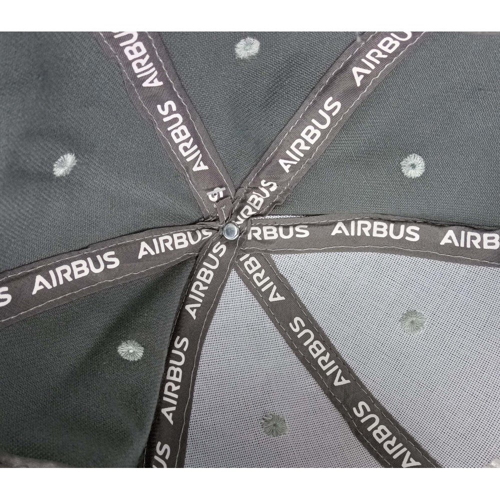 Cap Airbus A380 Gray Volumetric Embroidery