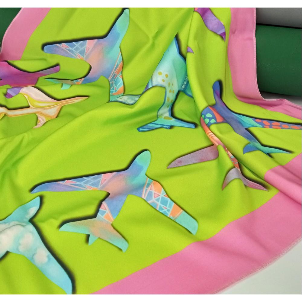 Kerchief Colored Planes Green