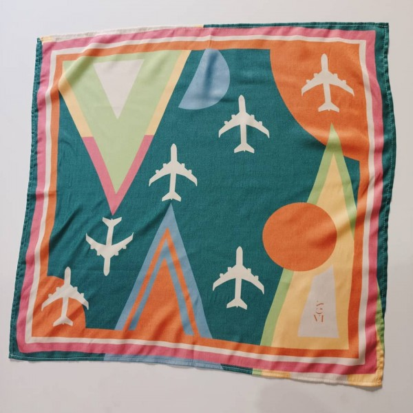 Kerchief Planes And Triangles Green