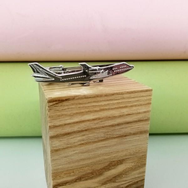 Tie Clip Boeing 747 Silver