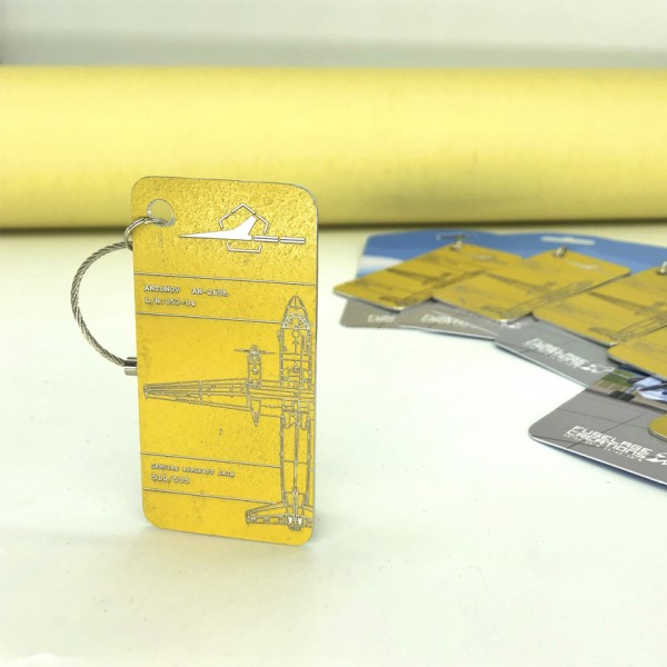 Keychain Aviation tag AN-26sh yellow