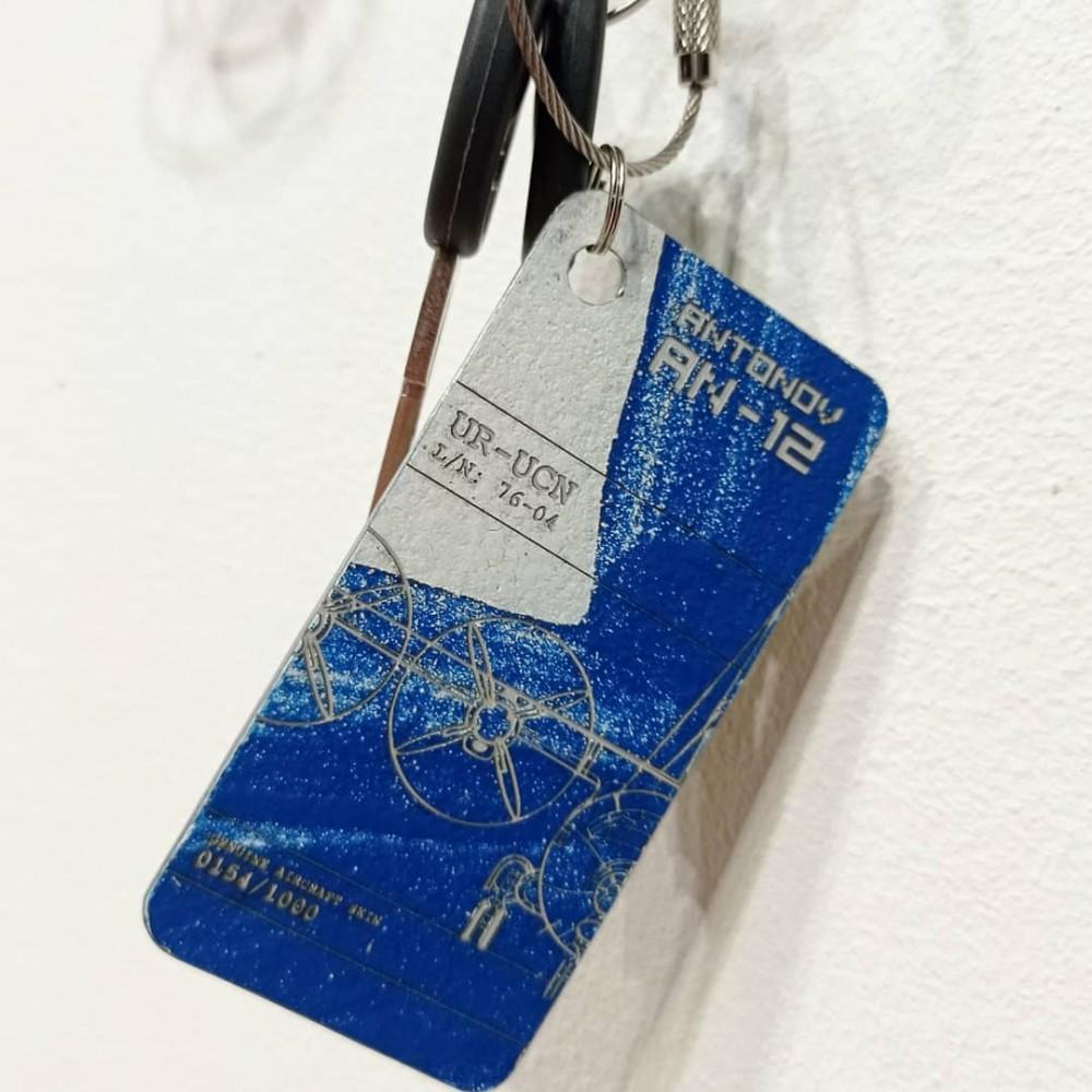 Keychain Aviation tag An-12