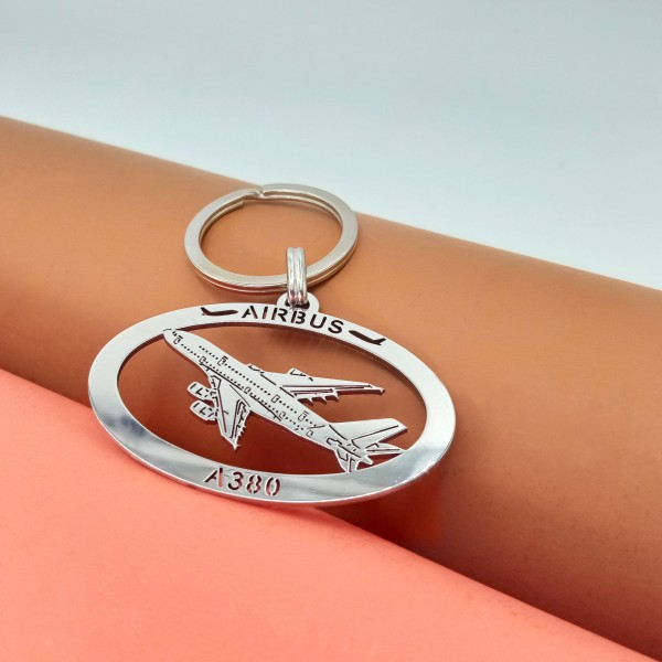 Metal Keychain Airbus A380