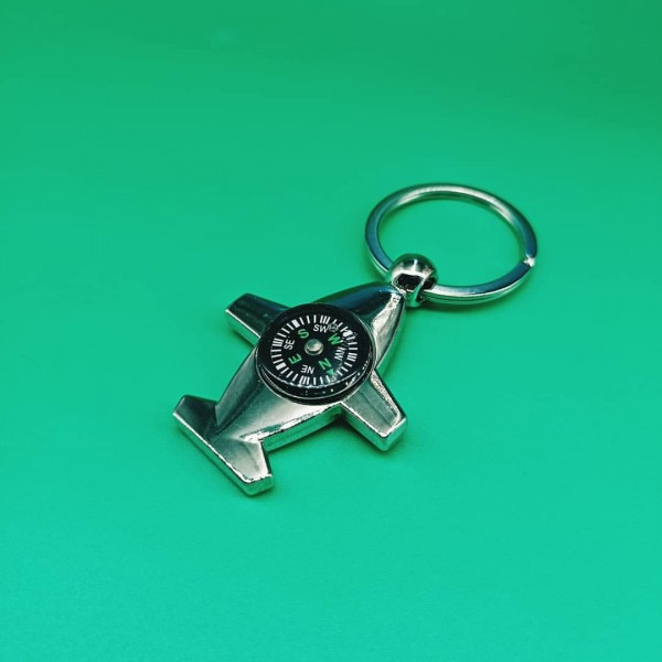 Keychain Compass Plane