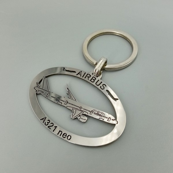 Metal Keychain Airbus A321neo