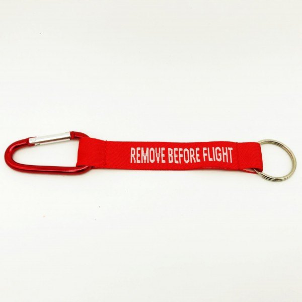Keychain Remove Before Flight with clasp