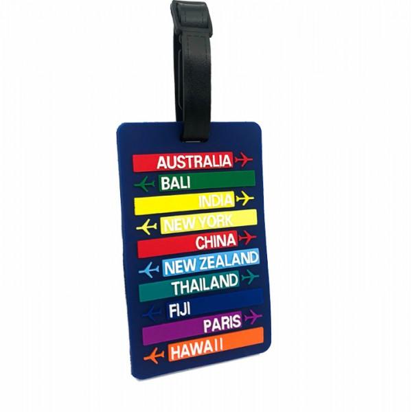 Luggage Tag Travel Blue