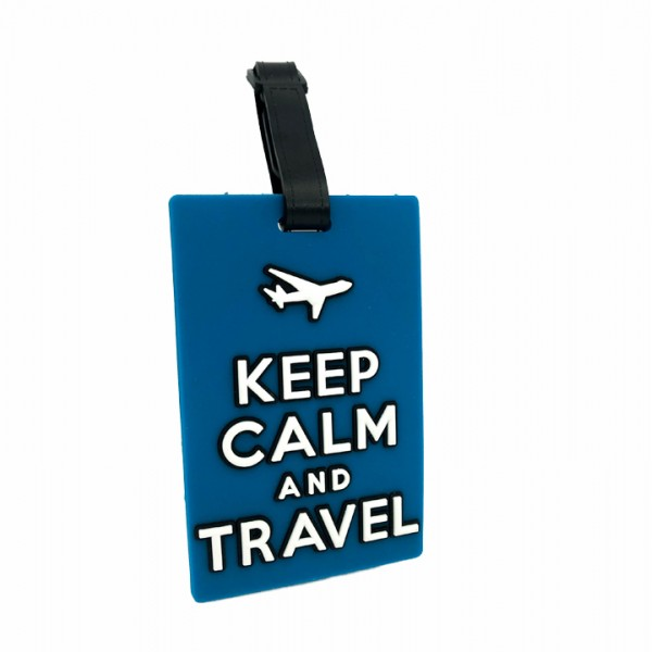 Luggage Tag Keep Calm Blue