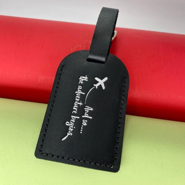 Luggage Tag «And so…. the adventure begins»