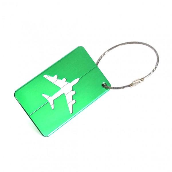 Luggage Tag Metal Green