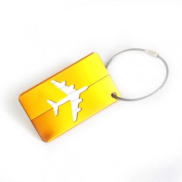 Luggage Tag Metal Yellow