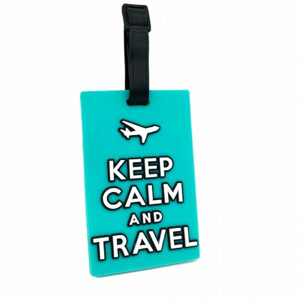 Luggage Tag Keep Calm Mint