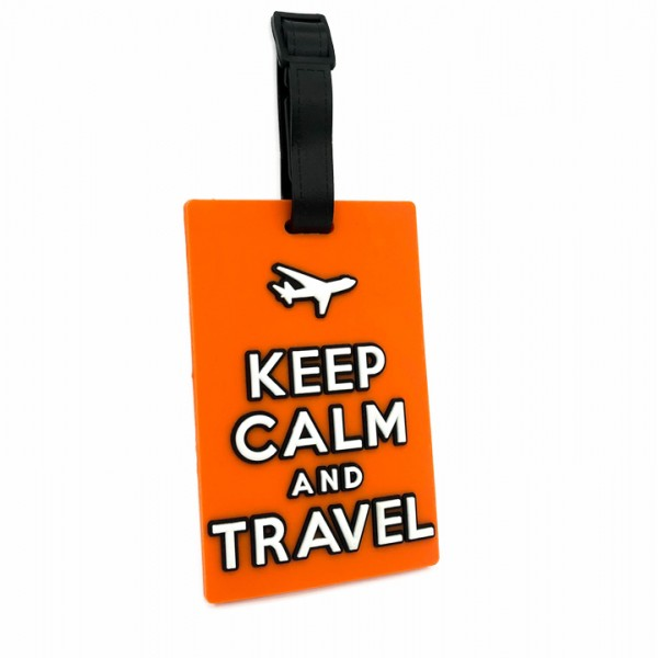 Luggage Tag Keep Calm Orange