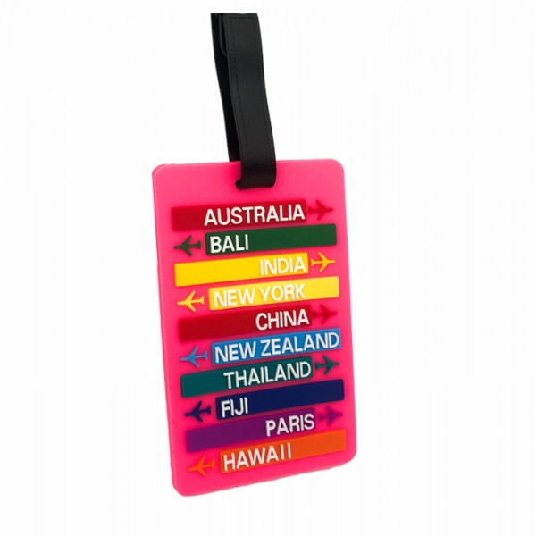 Luggage Tag Travel Pink