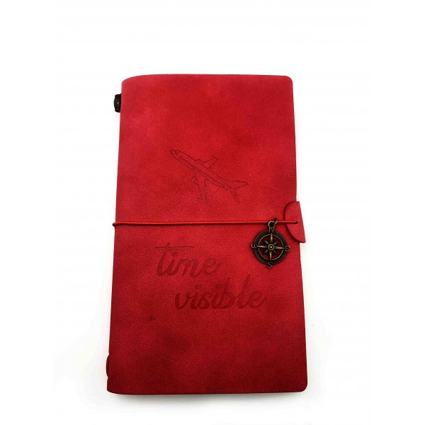 """Notebook """"Time Visible"""" Red"""