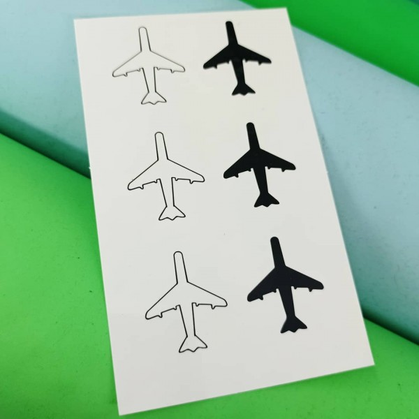 Temporary Tattoo Airplanes Outline