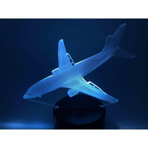 3D Nightlight Aircraft Fly Landing