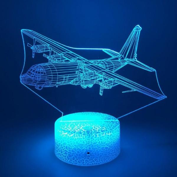 3D Nightlight Plane With Propeller