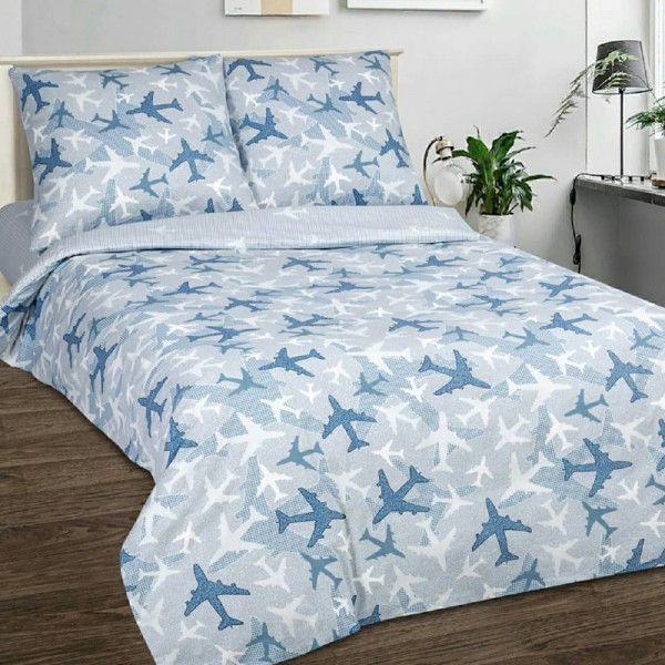 Bed Linens Airplanes Blue