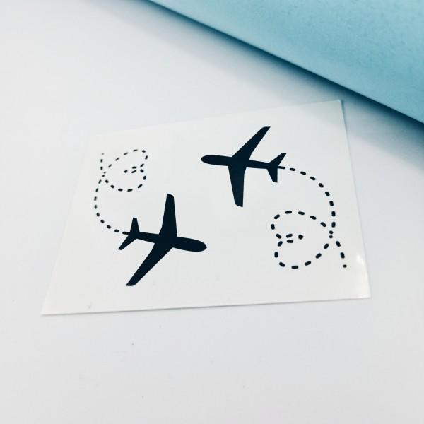 Temporary Tattoo Airplane Lone